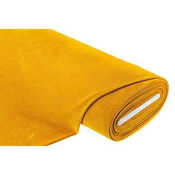 Tissu jersey 'aspect velours côtelé', ocre