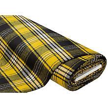 Flanell kariert, gelb/schwarz