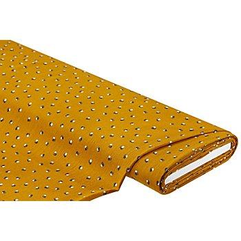 Tissu crêpe en viscose, ocre multicolore