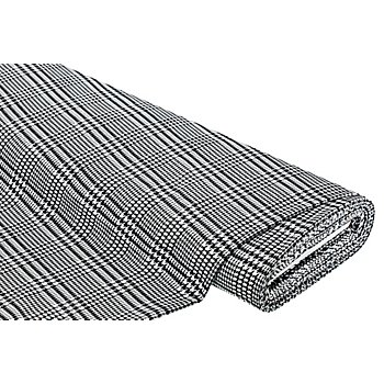 Webstoff 'Hahnentritt', schwarz/weiß
