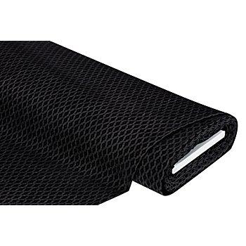 Elastik-Jeansstoff beflockt, schwarz