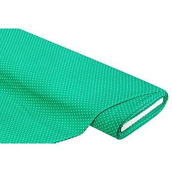 Tissu jersey en viscose 'pois', vert/blanc