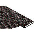 """Tissu javanaise """"petites fleurs"""", noir multicolore"""