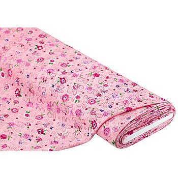Spitzenstoff 'Blumen', rosa-color