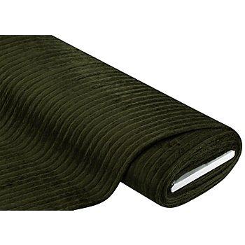Tissu maille à grosses côtes, vert kaki