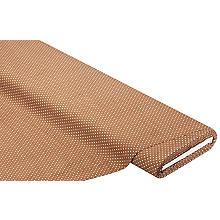Tissu velours milleraies 'pois', marron clair/blanc