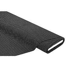Tissu velours milleraies 'pois', noir/blanc