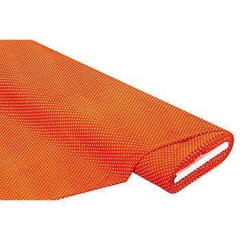 Feincord 'Pünktchen', orange/weiss