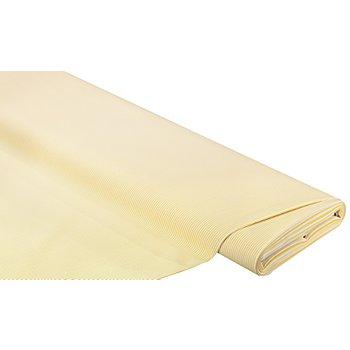 Gabardine 'Streifen', gelb/weiß