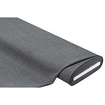 Tissu extensible avec de la laine, gris chiné