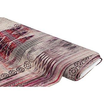 Tissu maille léger 'dégradé de couleur/bordure', violet multicolore