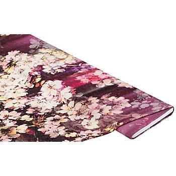 Leichtstrick 'Blüten', lila-color