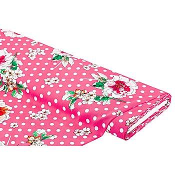 Javanaise 'Blumen & Punkte', pink-color