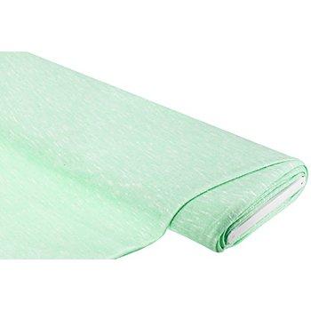 Tissu maille léger et chiné, vert clair/blanc