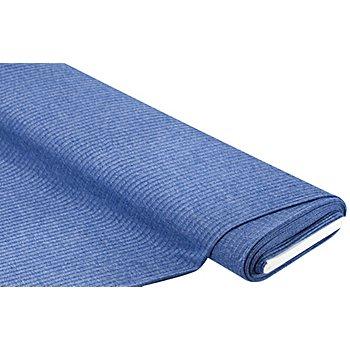Feinstrick-Jersey gerippt, blau