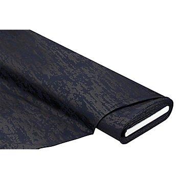 Tissu gabardine extensible, bleu foncé/noir