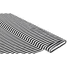 Stretchstoff 'Streifen', schwarz/weiß