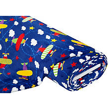 Tissu polaire 'avions', multicolore