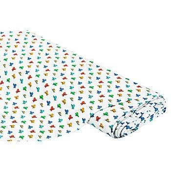 Tissu jersey en coton 'papillon' avec de l'élasthanne, multicolore