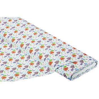Tissu coton 'feuilles', multicolore