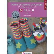 Livre 'Petits et grands chaussons - 14 modèles à coudre en cuir'