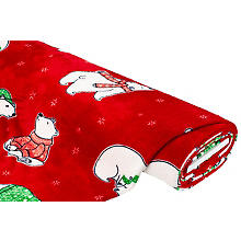 Tissu polaire 'ours polaire', rouge multicolore