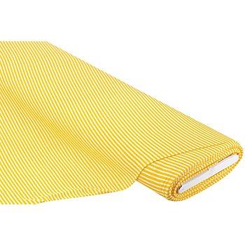 Leichtstrick 'Ringel', gelb/weiss