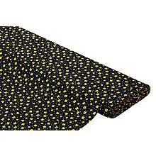 Viskose-Blusenstoff – Javanaise 'Blumen', schwarz/gelb