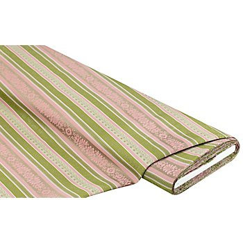 Jacquard 'Bordüren', grün/rosa