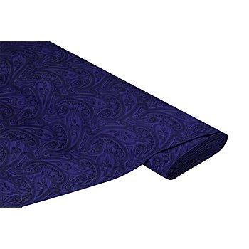 Jacquard 'Ornamente', blau/schwarz
