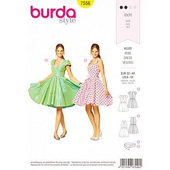 burda Patron 7556 'robe avec jupe parapluie'
