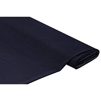 Leichter Webstoff 'Nadelstreifen' mit Wolle, marine/weiß