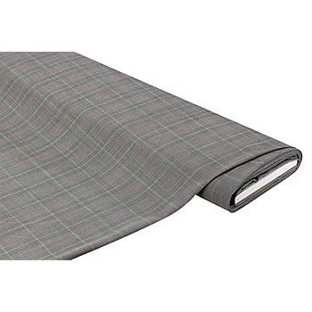 Leichter Webstoff 'Karo' mit Wolle, grau/mint