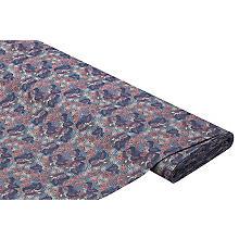 Tissu coton pour blouses 'pied de coq/ornements', bleu multicolore