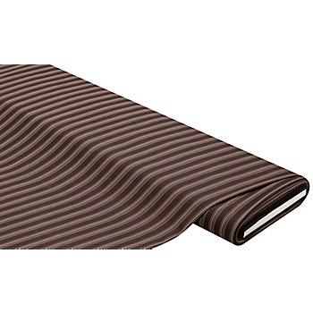 Leichter Hosenstoff 'Streifen', braun-color