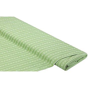 Baumwoll-Trachtenstoff 'Blümchenranke', hellgrün
