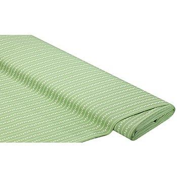 Baumwoll-Trachtenstoff 'Ranken', hellgrün