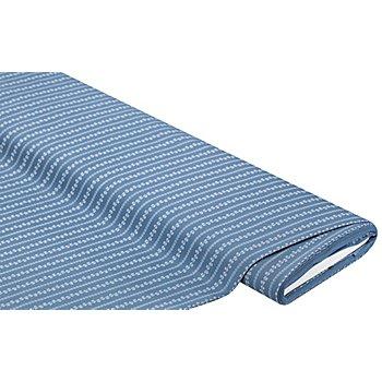 Baumwoll-Trachtenstoff 'Ranken', graublau