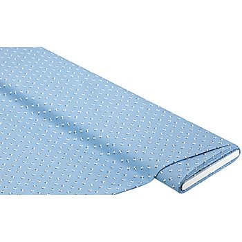 Tissu coton 'millefleurs', bleu clair