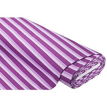 Sweatstoff 'Streifen', lila-color