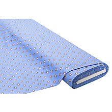 Tissu jersey en coton 'fleur' avec de l'élasthanne, bleu clair multicolore