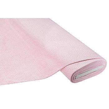 Tissu polaire gaufré 'pois', rose