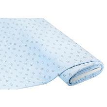 Tissu polaire gaufré 'chat & souris', bleu clair