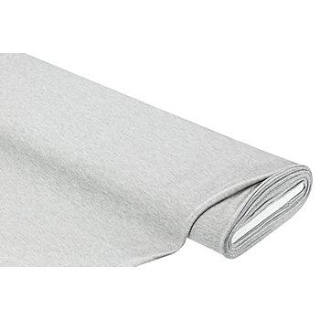 Albstoffe Tissu piqué biologique 'Polo Me', gris chiné