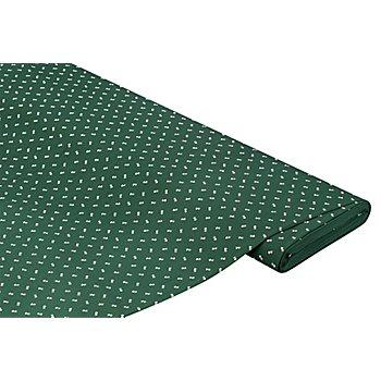 Baumwoll-Trachtenstoff 'Streublümchen', dunkelgrün