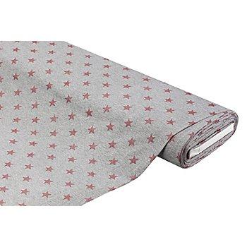 Baumwolljersey 'Glitzer-Sterne' mit Elasthan, grau-color