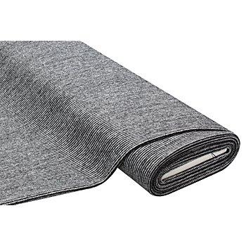Doubleface Mantelstoff mit Wolle, schwarz/weiß