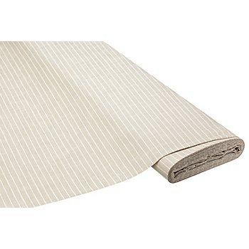 Tissu coton-lin rayé, beige/blanc délavé