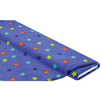 Tissu polaire 'étoiles', bleu multicolore