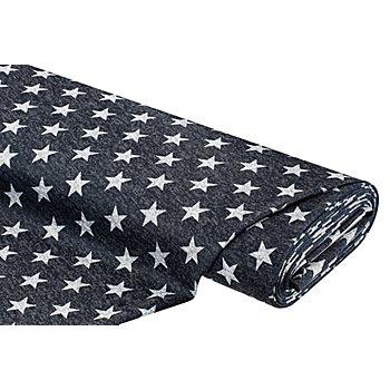 Leichtstrick 'Sterne', blau/grau